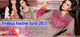Firdous Festive Suits 2015 Embroidered Designs