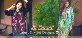 So Kamal Latest Silk Eid Designs 2015