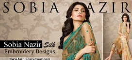 Sobia Nazir Silk Embroidery Designs 2015