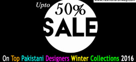 Sale on Pakistani Designers Winter Collection 2015-2016