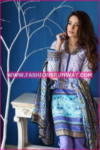 Gul Ahmed Midsummer 2016 PURPLE EMBROIDERED CAMBRIC CBE-24 B