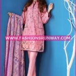 Gul Ahmed Midsummer 2016 BABY PINK EMBROIDERED CAMBRIC CBE-25 B