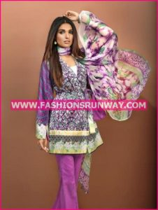 Gul Ahmed Midsummer 2016 PURPLE BLENDED CHIFFON BM-03