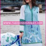 Gul Ahmed Midsummer 2016 LIGHT BLUE PRINTED CAMBRIC CBN-04 A