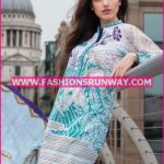 Gul Ahmed Midsummer 2016 TURQUOISE PRINTED CAMBRIC CBN-05 B
