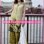 Gul Ahmed Midsummer 2016 OLIVE PRINTED CAMBRIC CBN-02 B