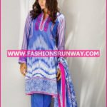 Gul Ahmed Midsummer 2016 BLUE PRINTED CAMBRIC CBN-14 A