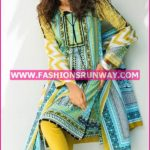 Gul Ahmed Midsummer 2016 GREEN PRINTED CAMBRIC CBN-16 A