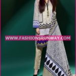 Gul Ahmed Midsummer 2016 BEIGE PRINTED CAMBRIC CBN-22
