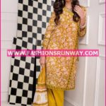Gul Ahmed Midsummer 2016 MUSTARD PRINTED CAMBRIC CBN-27 A
