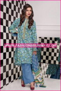 Gul Ahmed Midsummer 2016 GRAY PRINTED CAMBRIC CBN-27 B