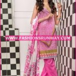 Gul Ahmed Midsummer 2016 PINK PRINTED CAMBRIC CBN-33 B