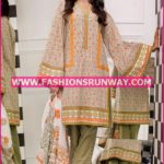 Gul Ahmed Midsummer 2016 OLIVE PRINTED CAMBRIC CBN-33 A