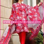 Gul Ahmed Midsummer 2016 RED PRINTED CAMBRIC CBN-06 A