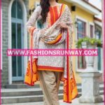 Gul Ahmed Midsummer 2016 BEIGE PRINTED CAMBRIC CBN-09 A