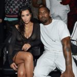 Kim Kardashian and Kanye West at 2016 MTV Video Music Awards