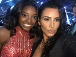 Simone Biles and Kim Kardashian West Pose Together at MTV VMAs